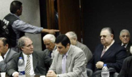 Hector Bicarelli al momento de ser sentenciado a prisión