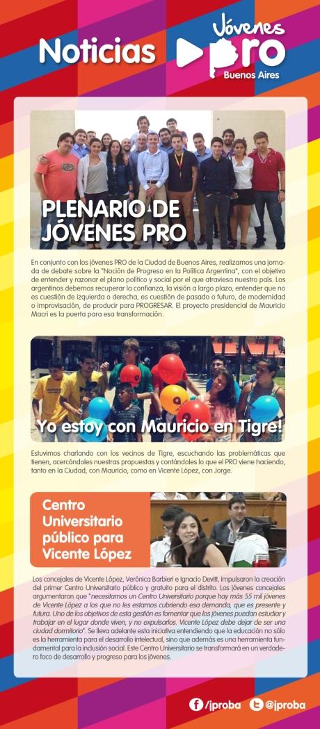 FINAL newsletter enero - febrero 2014 Plenario de jóvenes PRO