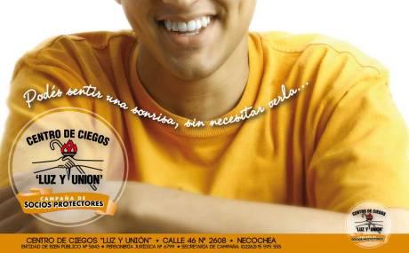 afiche Campaña socios protectores Centro de Ciegos alta