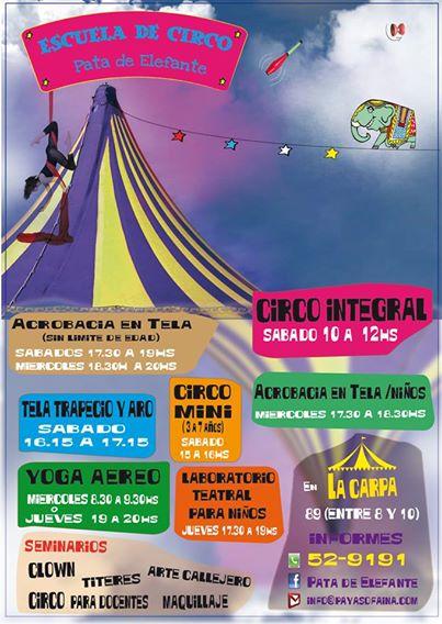 flyer escuela circo