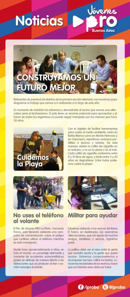 Noticias Jóvenes PRO Buenos Aires