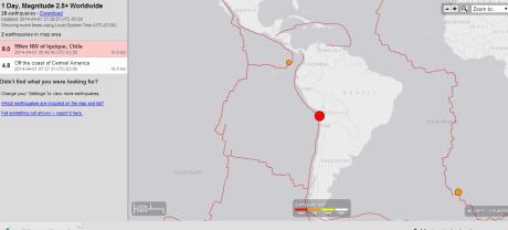 SISMO CHILE 8.0