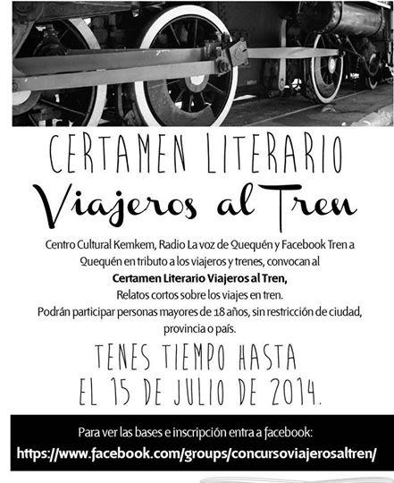 Certamen literario Viajeros al tren