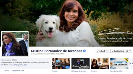 Crisina Fernandez inaugura oficinas de facebook
