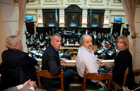 El ministro Alejandro Granados presenció el debate en el recinto de Diputados.