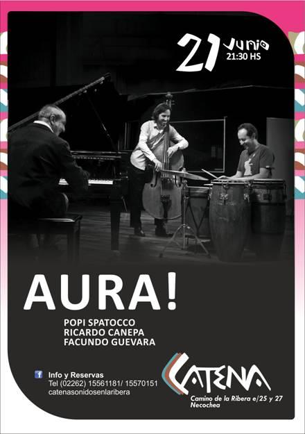 El trío AURA se presenta por primera vez en Necochea