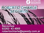 ROBERTO CHIARLE SEGUROS - 43 4005 - SANCOR SEGUROS NECOCHEA
